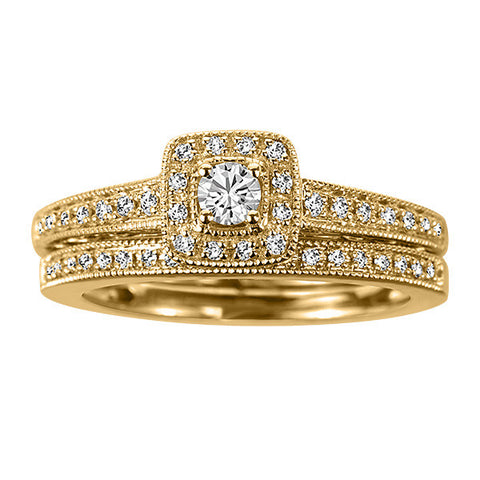 Yellow Gold Diamond Engagement Set