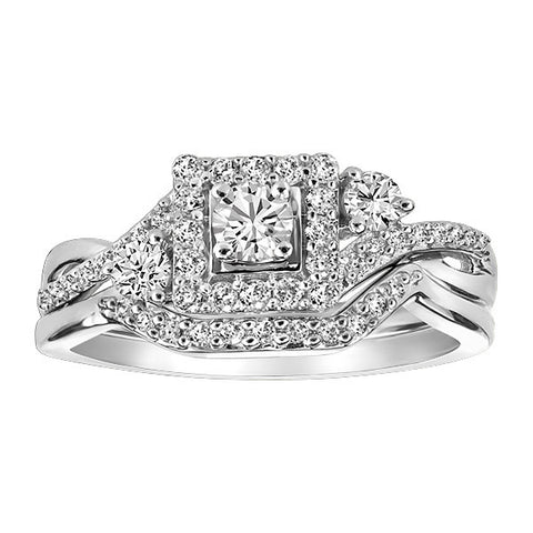 White Gold Diamond Engagement Set