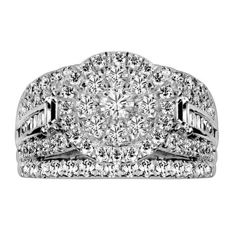 White Gold Baguette Diamond Engagement Ring