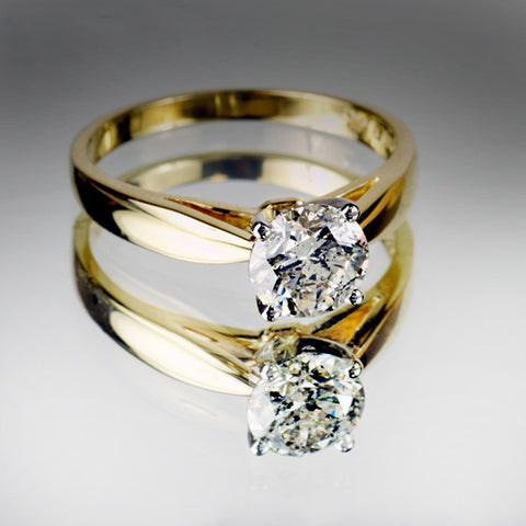 Yellow Gold 1.00 Carat Canadian Diamond Solitaire Ring