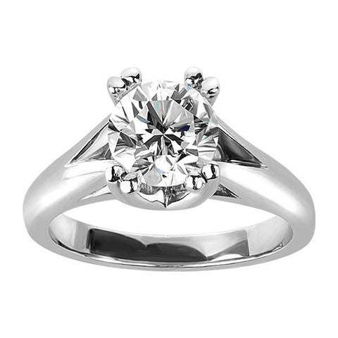 White Gold 1.50 Carat Canadian Diamond Solitaire Ring
