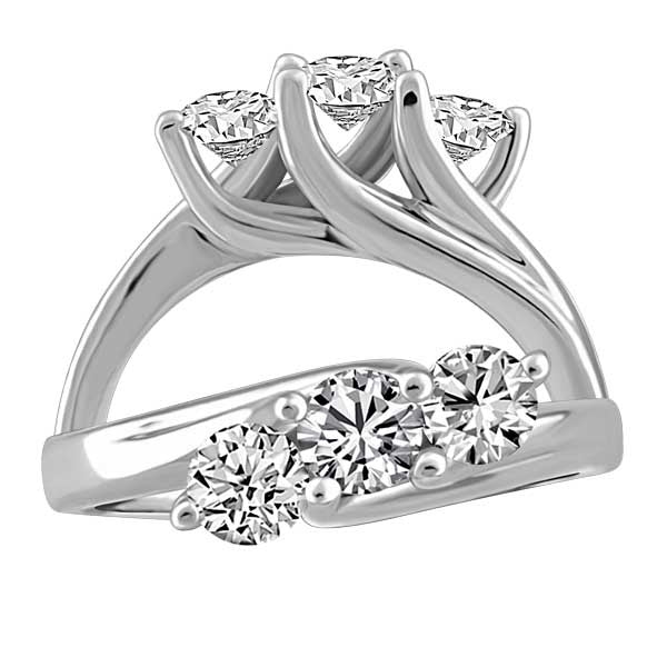 Captured Hearts Canadian Diamond 3 Stone Ring