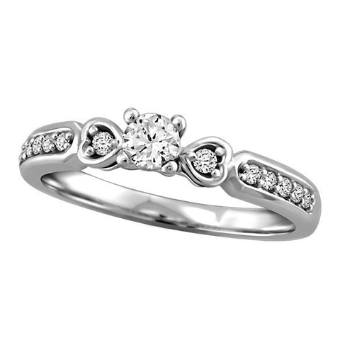 Fire of the North White Gold Canadian Diamond Engagement Ring