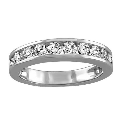 White Gold Fire of the North Canadian Diamond Wedding Ring