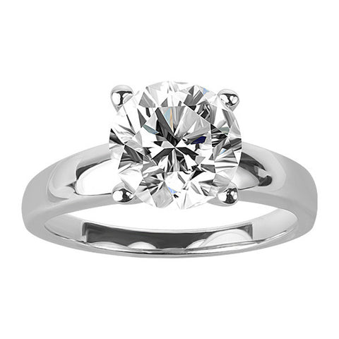 White Gold 2.00 Carat Round Brilliant Canadian Diamond Solitaire