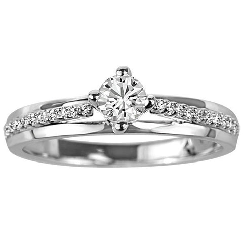 White Gold Diamond Canadian Fire of the North Engagement Ring