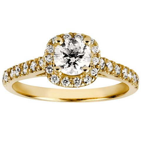 Glacier Ice Yellow Gold Round Brilliant Canadian Diamond Ring