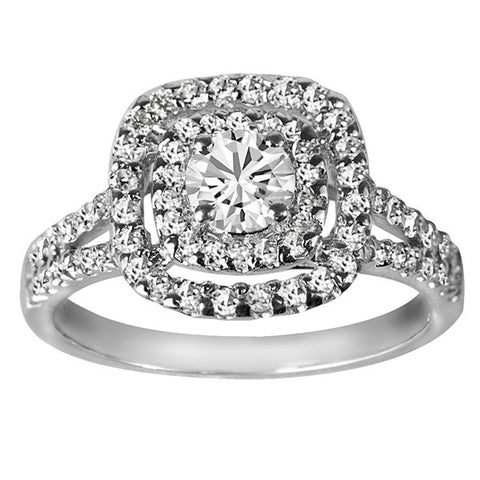 White Gold Round Brilliant Canadian Diamond Engagement Ring