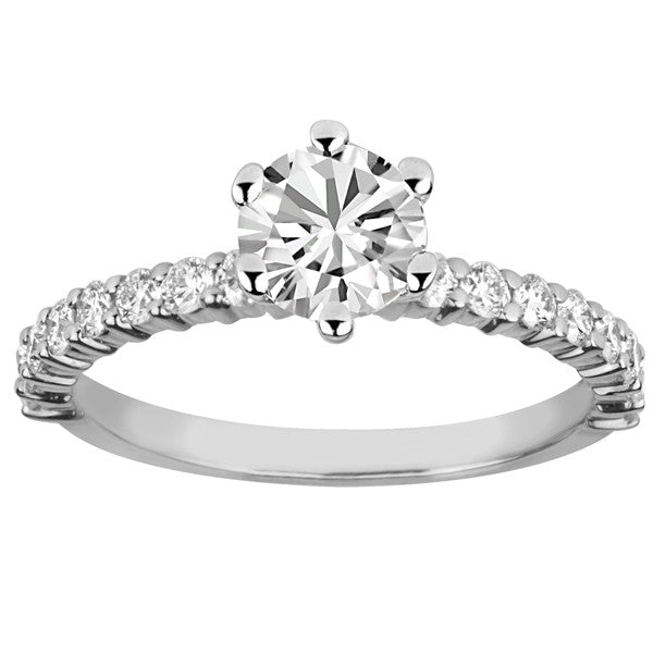 Glacier Ice White Gold Round Brilliant Canadian Diamond Engagement Ring