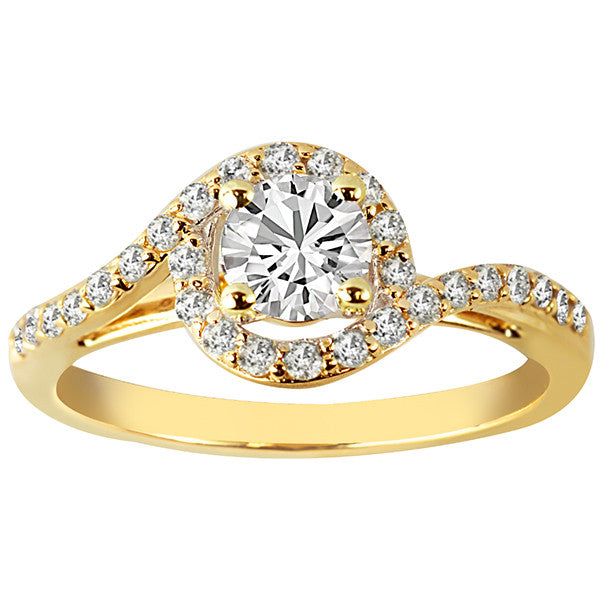 Fire of the North Yellow Gold Round Brilliant Canadian Diamond