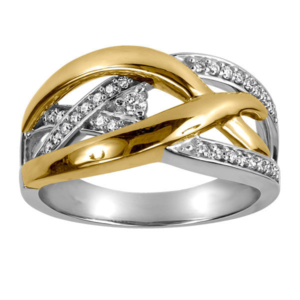 Two Tone Gold Canadian Diamond Ring