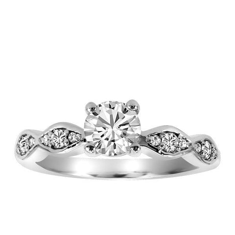 14kt White Gold Round Brilliant Canadian Diamond Engagement Ring