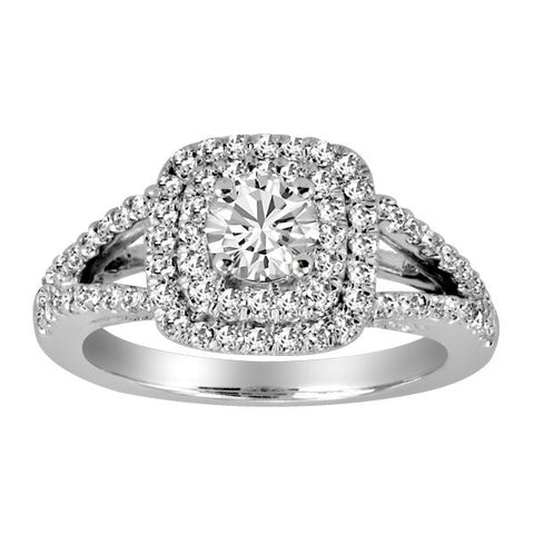 18kt White Gold, Round Brilliant, Canadian, Ideal Cut Diamond, Engagement Ring