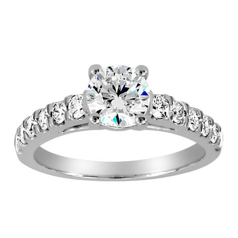 18kt White Gold Round Brilliant Diamond Engagement Ring