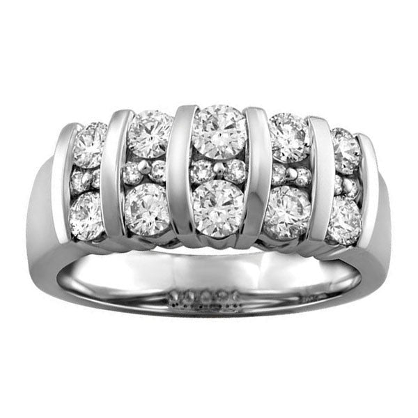 White Gold Ice Diamond Ring