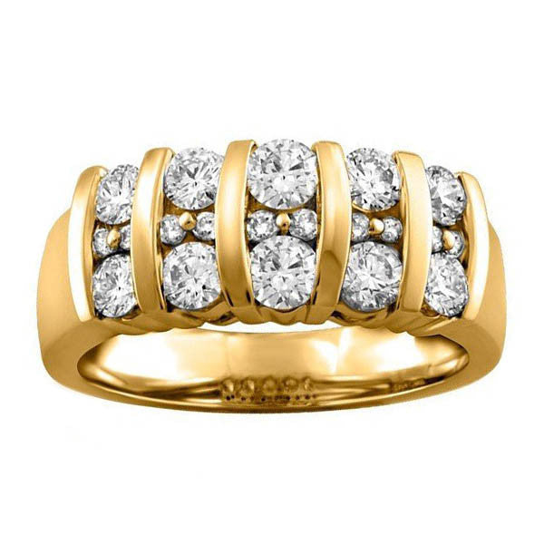 Gold Ice Diamond Ring