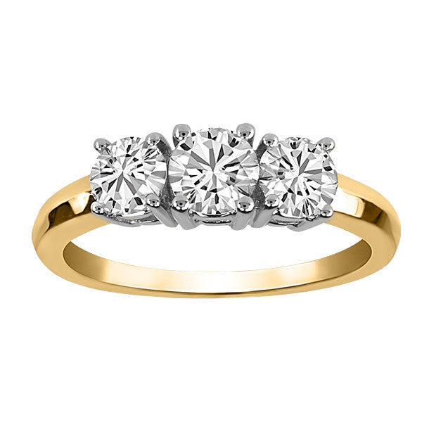 Gold 1.00 Carat Diamond Engagement Ring