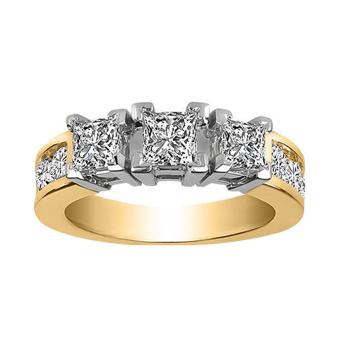 Gold .33 Carat 3 Diamond Engagement Ring