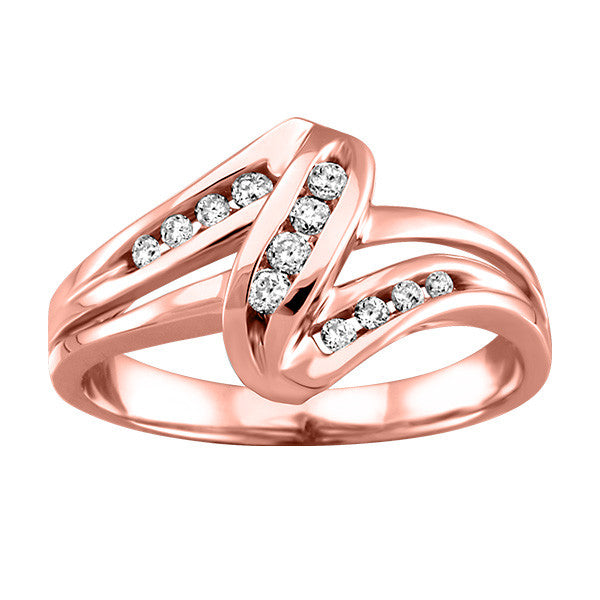 Rose Gold Ladies Diamond Ring