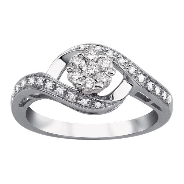 White Gold Diamond Embrace Ring