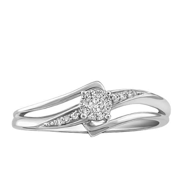 White Gold Ladies Diamond Ring