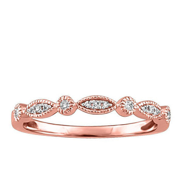 Stackable Rose Gold Diamond Ring
