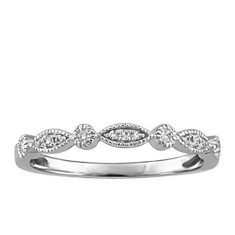 Stackable White Gold Diamond Ring