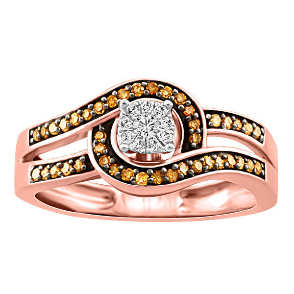 Rose Gold Brown Diamond Ring