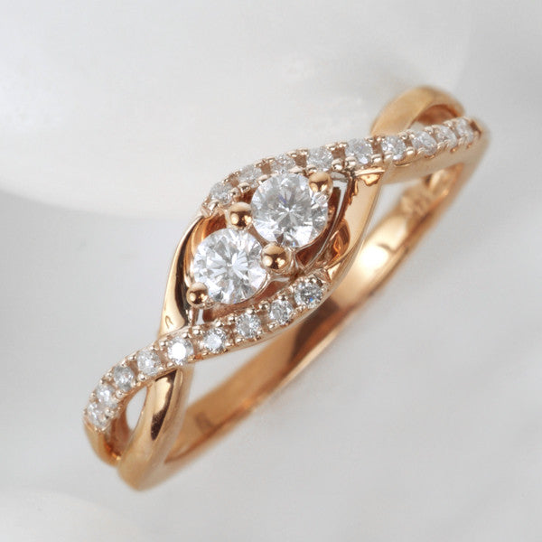 Two True Rose Gold Diamond Ring