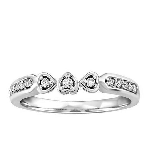 Fire of the North White Gold Diamond Matching Wedding Ring