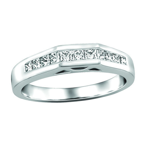 White Gold Fire of the North Matching Wedding Ring