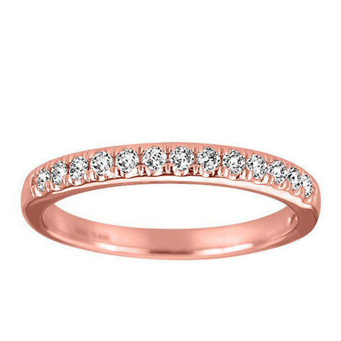 Rose Gold Diamond Matching Wedding Ring