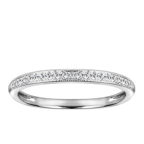 White Gold Diamond Matching Wedding Ring