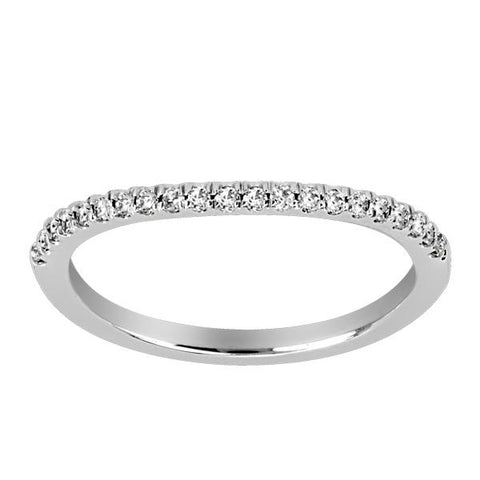 18kt White Gold Round Brilliant Diamond Matching Band