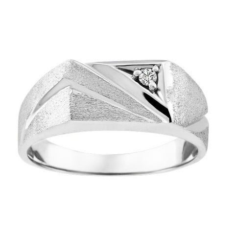 Mens White Gold Diamond Ring