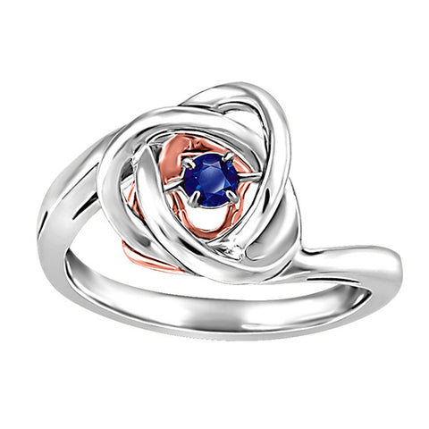 Silver and Rose Gold Sapphire Luminance Ring
