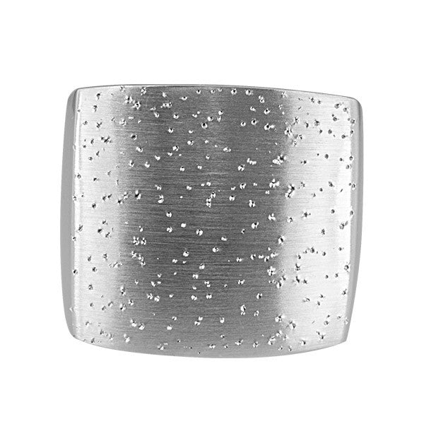 Silver Square Stardust Ring