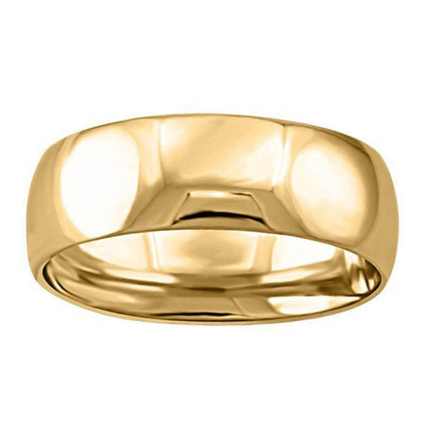Gold 6mm Wedding Band Size 12.5