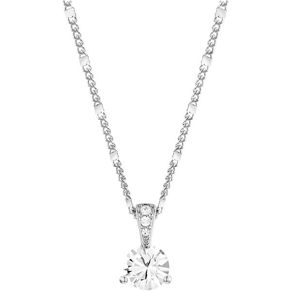 Swarovski Crystal Rhodium Solitaire Necklace