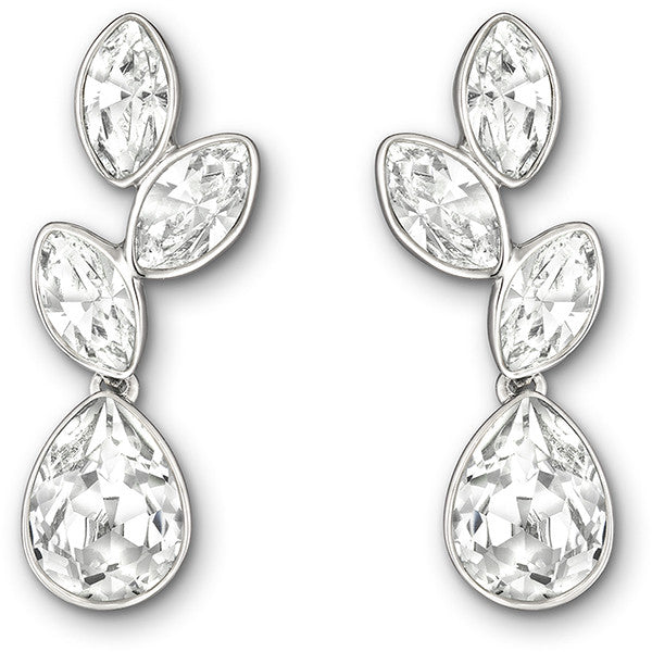 "Swarovski Crystal Rhodium ""Tranquility"" Earrings"