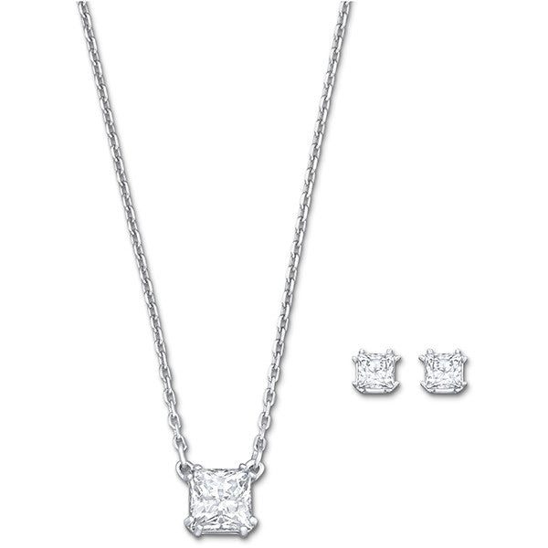 "Swarovski Crystal Rhodium ""Attract"" Set"