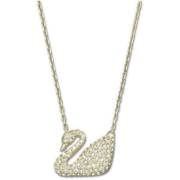 "Swarovski Crystal Gold ""SWAN"" Cry  Necklace"