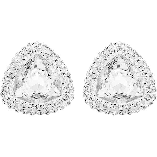 "Swarovski Crystal Rhodium ""BEGIN"" Earrings"