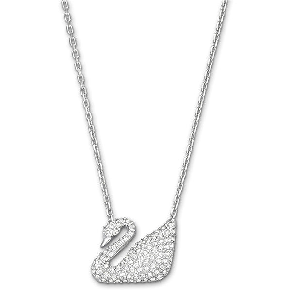 Swarovski Crystal Silver Tone Swan Necklace