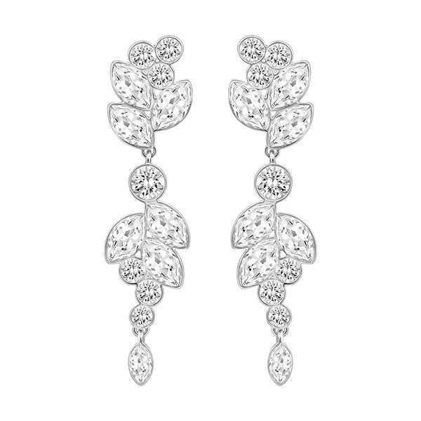 Swarovski Crystal Silver Tone Diapason Earrings