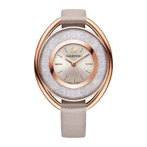 Swarovski Crystal Rhodium Oval Watch