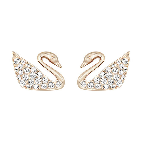 Swarovski Crystal Swan Earrings