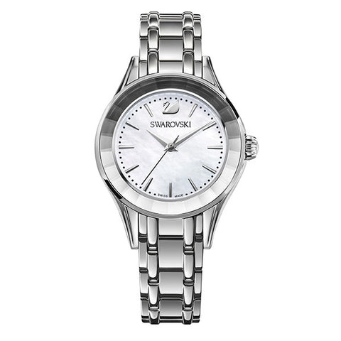 Swarovski Crystal Rhodium Silver Tone Watch