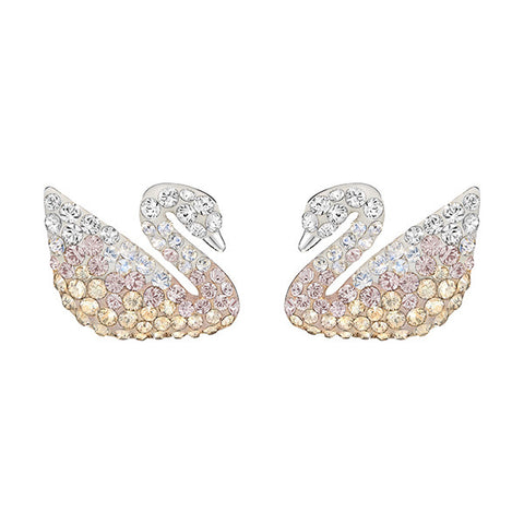 Swarovski Crystal Iconic Swan Pearl Earrings