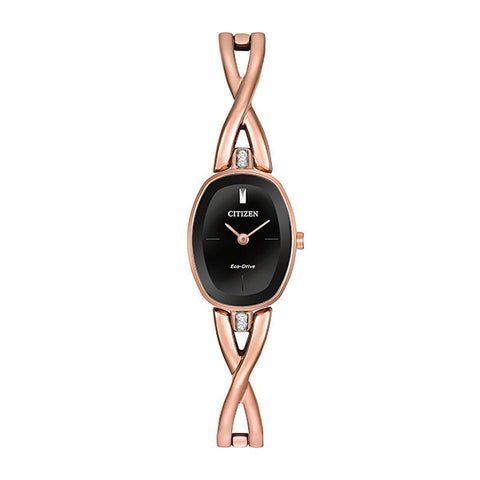 Citizen Women's Silhouette Quartz Rose Tone Watch